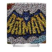 Batman Bottle Cap Mosaic Shower Curtain
