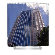 Batman Building In Down Town Nashville Shower Curtain