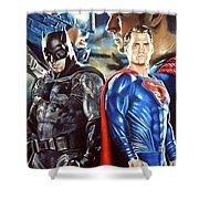 Batman V Superman Shower Curtain