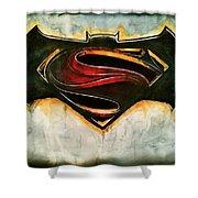 Batman Vs Superman Shower Curtain
