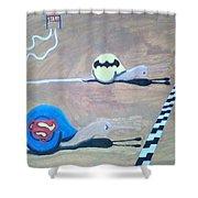 Batman Vs Superman Snail Shower Curtain