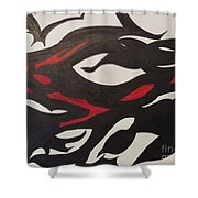 Bats And Eyes Shower Curtain