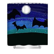 Bats At Night Shower Curtain