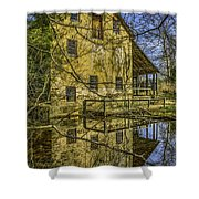 Batsto Gristmill Reflection Shower Curtain