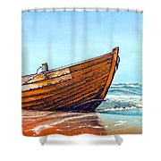 Battered By The Sea Shower Curtain