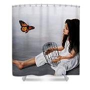Batterfly Shower Curtain