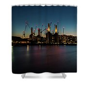 Battersea Power Station On The Thames, London Shower Curtain