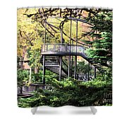 Battery Park Fall Colors  Shower Curtain
