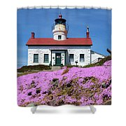 Battery Point Lighthouse In Crescent City Shower Curtain