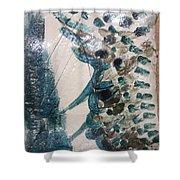 Battle - Tile Shower Curtain