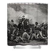 Battle At Princeton New Jersey Usa 1775 Shower Curtain