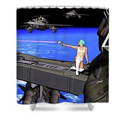 Battle Beyond The Atmosphere  Shower Curtain