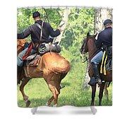 Battle By Horseback Shower Curtain