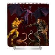 Battle Of Good Vs Evil Shower Curtain
