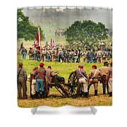 Battle Lines Forming Shower Curtain