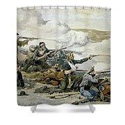 Battle Of Beecher's Island Shower Curtain