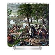 Battle Of Chancellorsville - Death Of Stonewall Shower Curtain