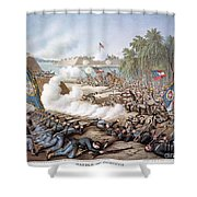 Battle Of Corinth, 1862 Shower Curtain by Granger