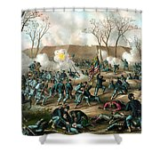 Battle Of Fort Donelson Shower Curtain