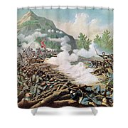 Battle Of Kenesaw Mountain Georgia 27th June 1864 Shower Curtain by American School