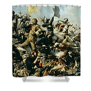 Battle Of Little Bighorn Shower Curtain