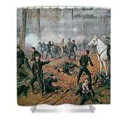 Battle Of Shiloh Shower Curtain by T C Lindsay