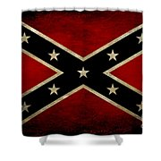 Battle Scarred Confederate Flag Shower Curtain