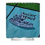 Battle Ship Shower Curtain