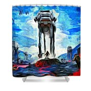 Battlefield Shower Curtain