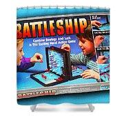 Battleship Board Game Painting  Shower Curtain