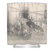 Battleship Coming Home Shower Curtain