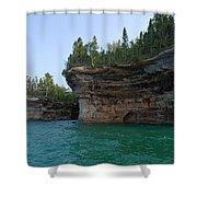 Battleship Row Rocks Shower Curtain