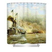 Battleships At War Shower Curtain