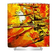 Star Wars X-wing Fighter - Oil Shower Curtain