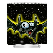 Batty Shower Curtain