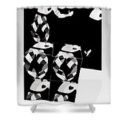 Bauhaus Ballet 2 The Cubist Harlequin Shower Curtain