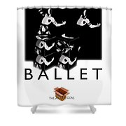 Bauhaus Ballet Poster Shower Curtain by Charles Stuart