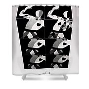 Bauhaus Ballet Six Shower Curtain