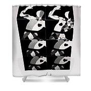 Bauhaus Ballet Six Shower Curtain