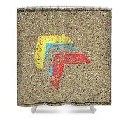 Bauhaus Symbol Paving Stone Shower Curtain