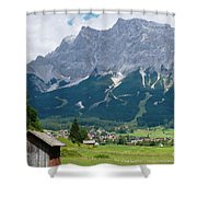 Bavarian Alps Landscape Shower Curtain