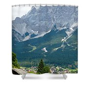 Bavarian Alps With Shed Shower Curtain