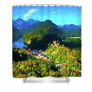 Bavarian Countryside Shower Curtain