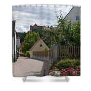 Bavarian Village With Castle  View Shower Curtain