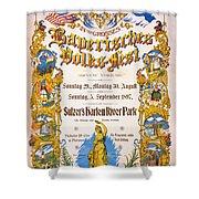 Bavarian Volksfest New York Vintage Poster 1897 Shower Curtain