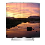 Baxter State Park At Sunset Shower Curtain