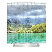 Bay And Greenery Shower Curtain