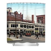 Bay And Queen Streets C1940 Shower Curtain