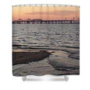Bay At Sunset Shower Curtain