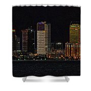 Bay City Shower Curtain